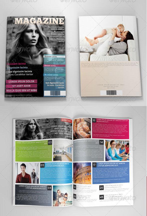 34 High Quality PSD Amp InDesign Magazine Templates Web Amp Graphic Design Bashooka