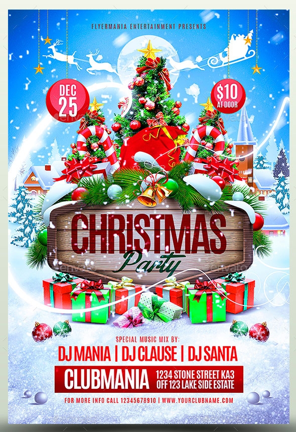 25 Christmas Amp New Year Party PSD Flyer Templates Web Amp Graphic Design Bashooka