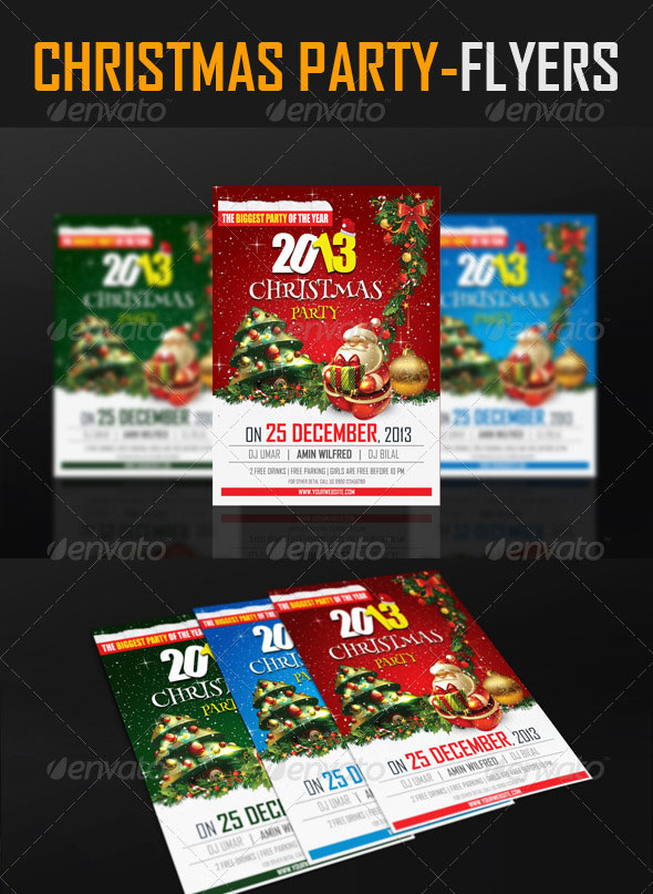 25 Christmas Amp New Year Party PSD Flyer Templates Web