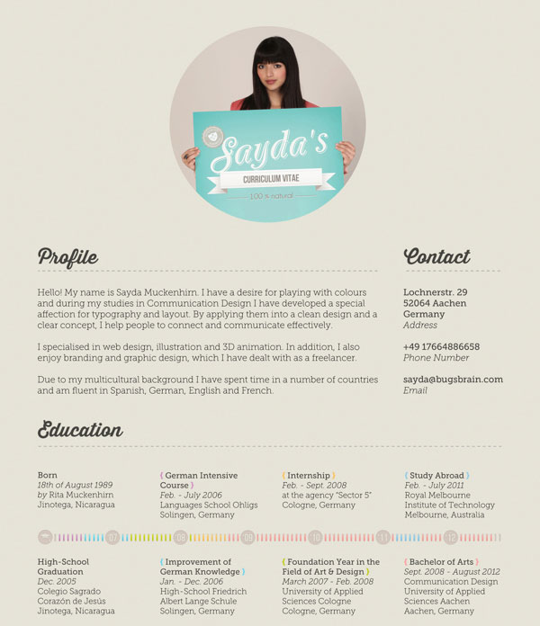 Great Resume Layout Examples. 10 awesome infographic resume ...