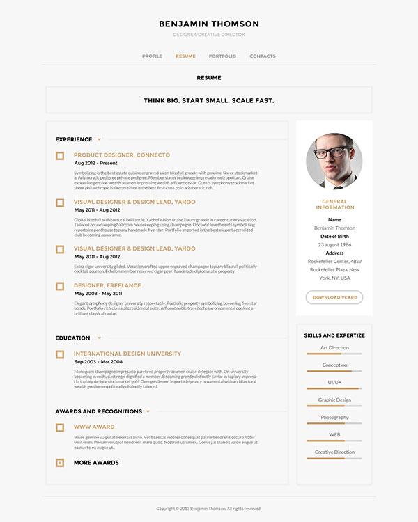 40 creative cv resume designs inspiration 2014 web amp graphic design