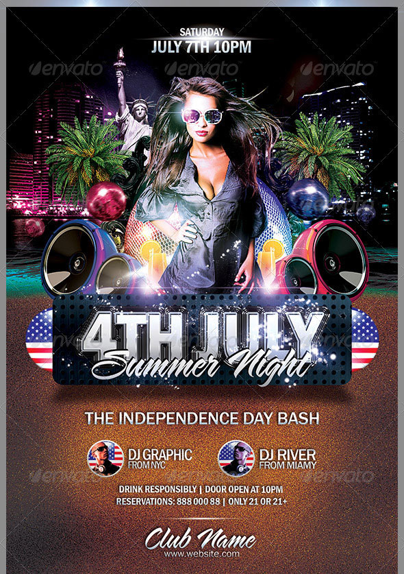 16 Amazing Independence Day Psd Flyer Templates Web
