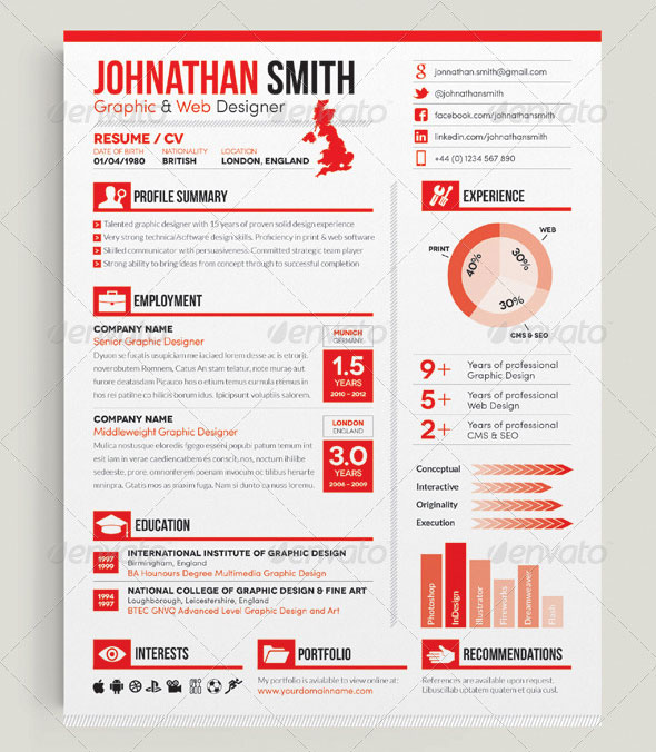 20 Creative Infographic Resume Templates Bashooka