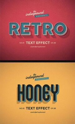 Retro Vintage Text Effects Vol. 2
