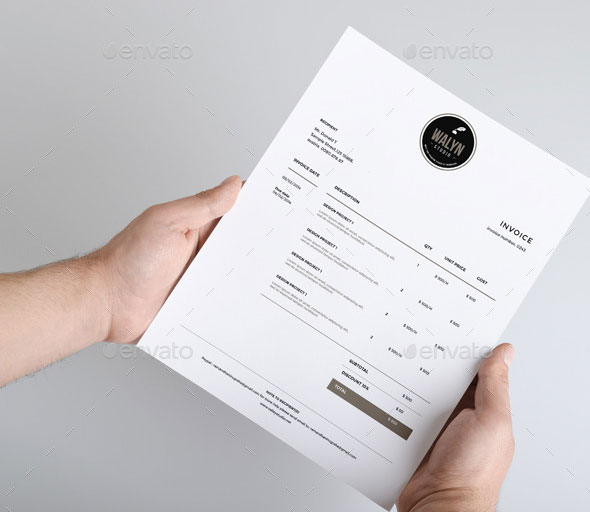37 Best PSD Invoice Templates For Freelancer   Web   Graphic Design     Clean Invoice