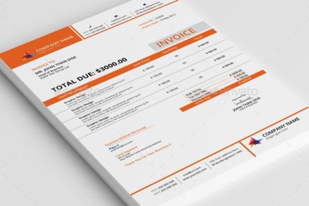 37 Best PSD Invoice Templates For Freelancer   Web   Graphic Design     Clean Invoice With MS Word