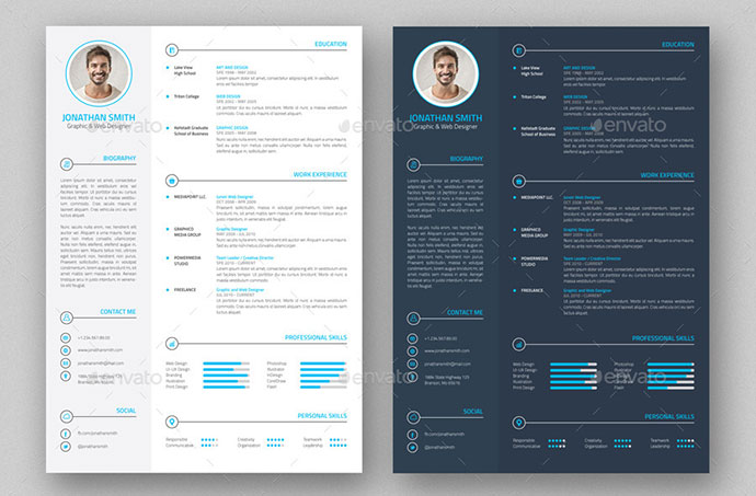 contemporary resume template creative professional resume free