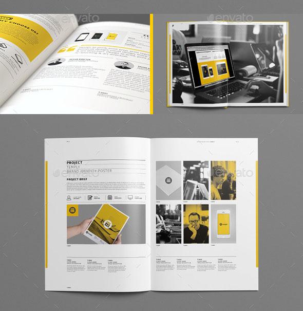 25 Really Awesome Portfolio Brochure Templates Web Amp Graphic Design Bashooka