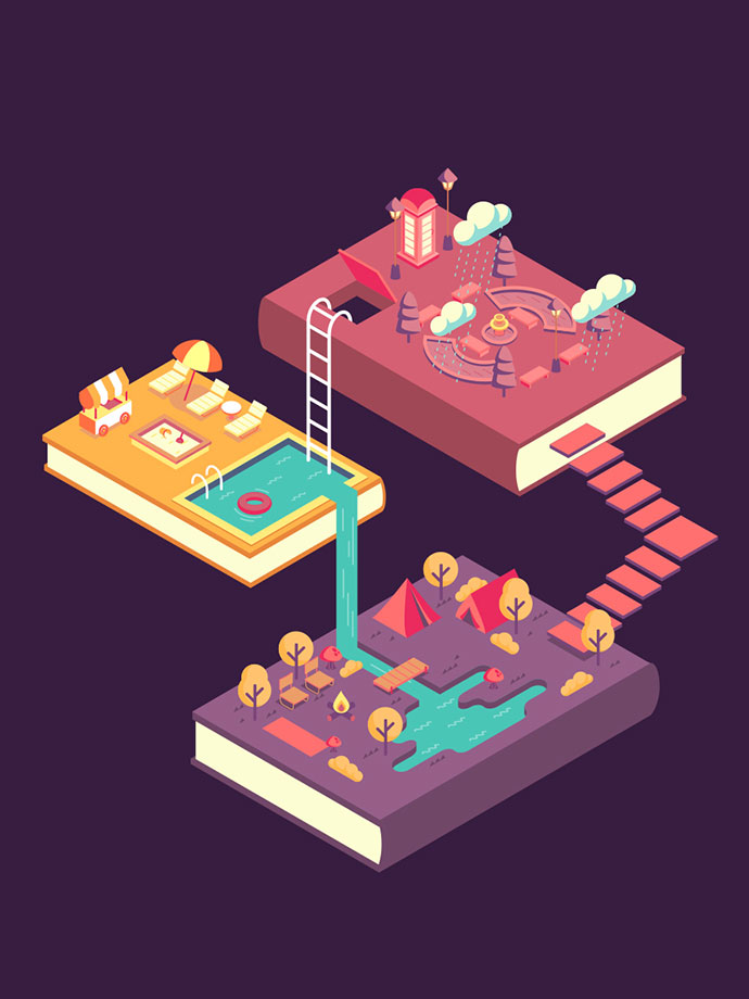 30 Dazzling Examples Of Isometric Designs Web Amp Graphic