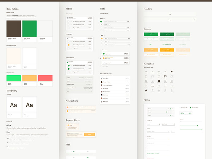 Ui Style Guide Template  ui style guide template psd by