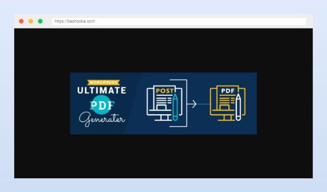 WP Ultimate PDF Generator