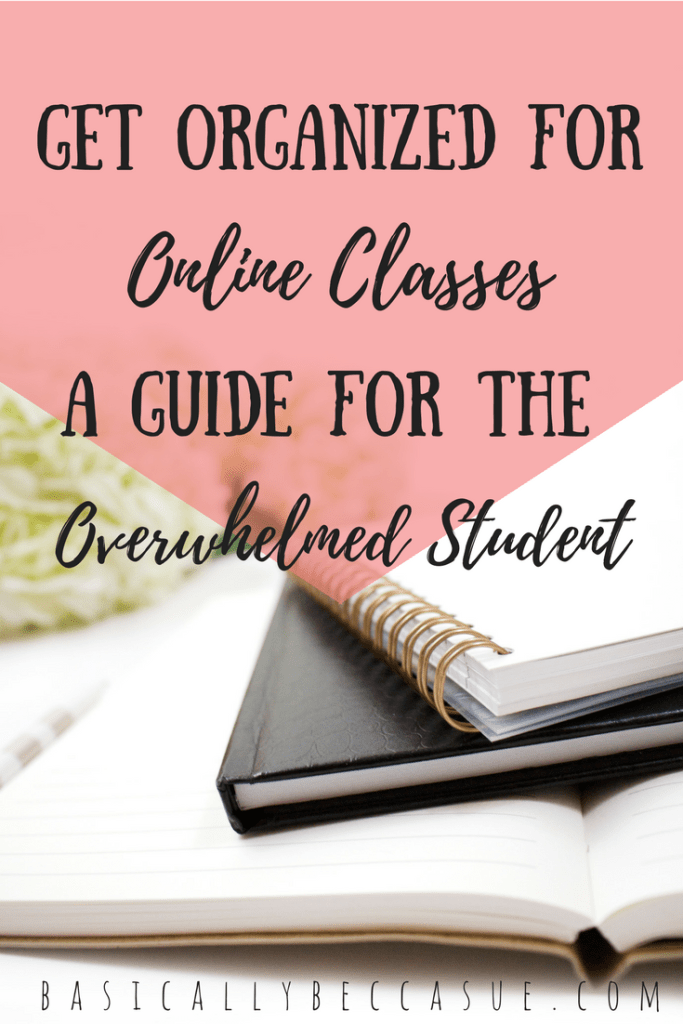 Follow this guide on how to get organized for online classes so that you can rock this semester!