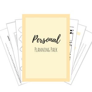 Personal Planning Pack