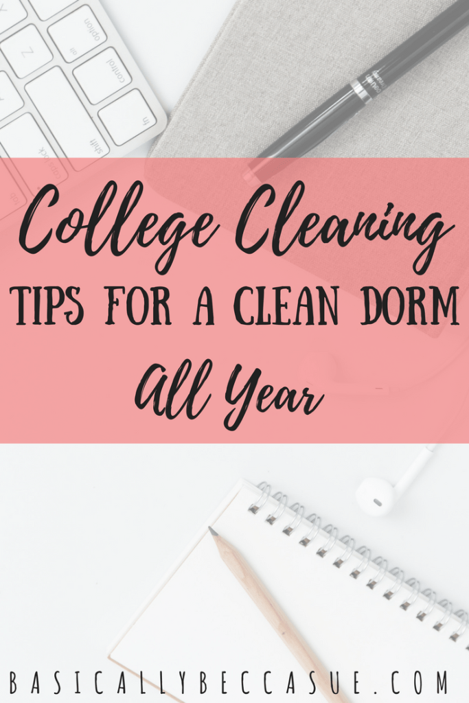 Cleaning isn't for everyone. Follow these college cleaning tips to help keep your dorm room fresh and clean all year!