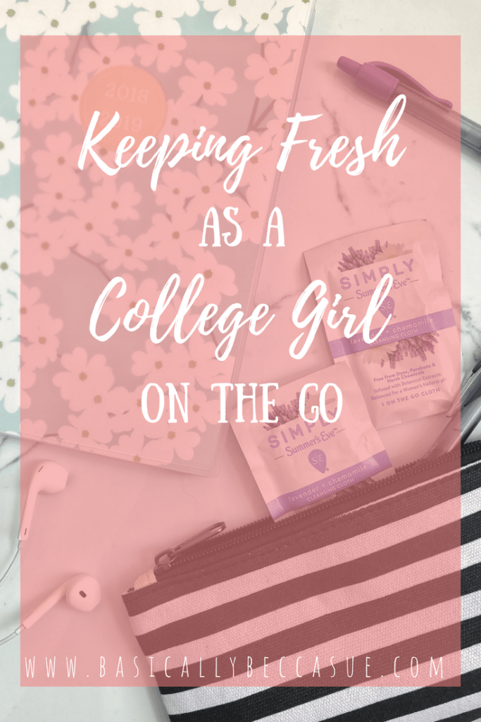 Are you a busy college girl? Find out out to stay fresh while on the go!