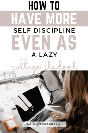 This is a super easy 4 step process to building self discipline!