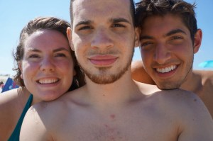 Random pic of me, my boyfriend, and our friend at the beach this summer.