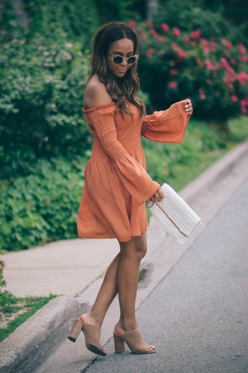 orange dress missguided