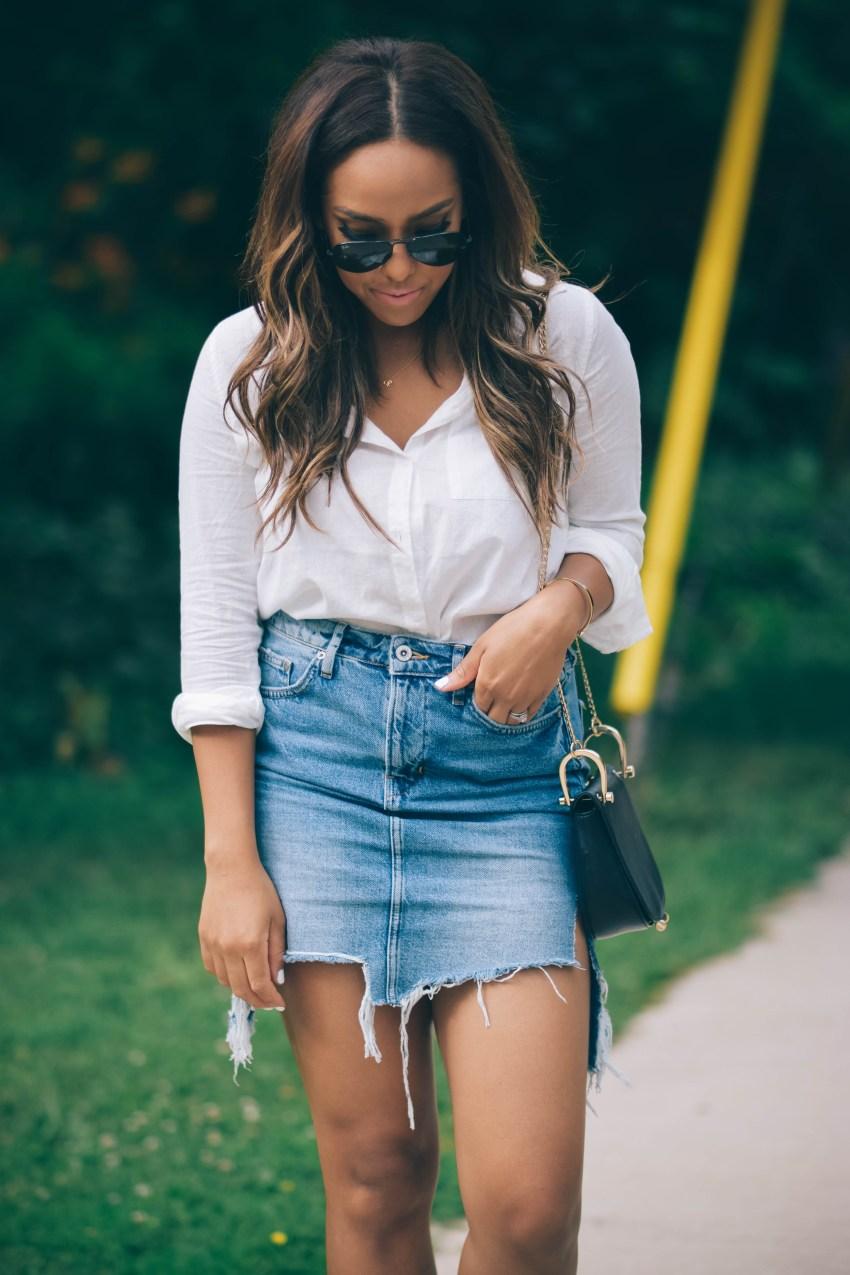 white button up shirt h&m
