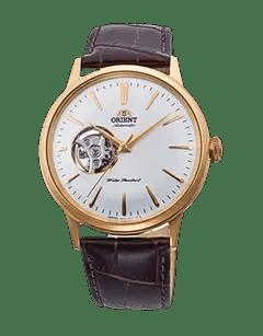 Orient Bambino Open Heart - White dial - Gold Case - RA-AG0003S10A