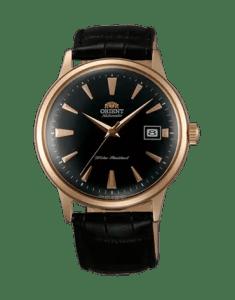 Orient Bambino-Gen-2-Version-1-black-dial-gold-case-FAC00001B0
