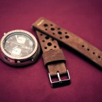 Brown suede rally tropic watch strap by Maverick Custom Handmade