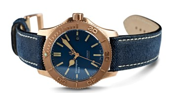 Christopher Ward Bronze Pro on Blue Canvas Strap