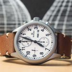 Clover Straps Custom Brown Leather Watch Strap on Damasko Watch