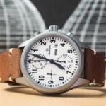 Clover Straps Custom Brown Leather Watch Strap on Damasko Watch