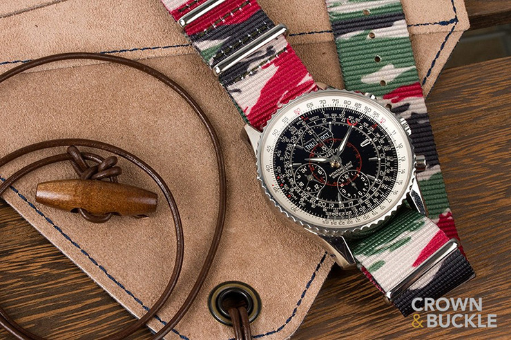 Crown and Buckle Lizard Camo Premium NATO watch Strap