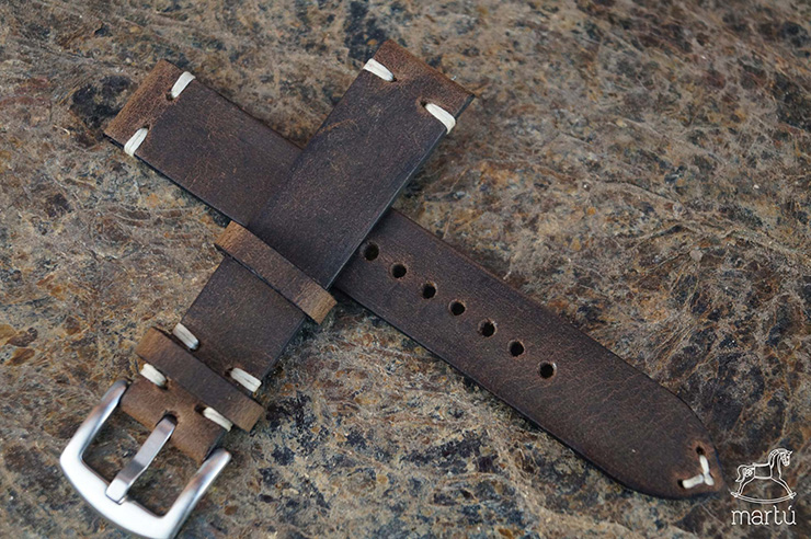 Martu Leather Brown Leather Strap