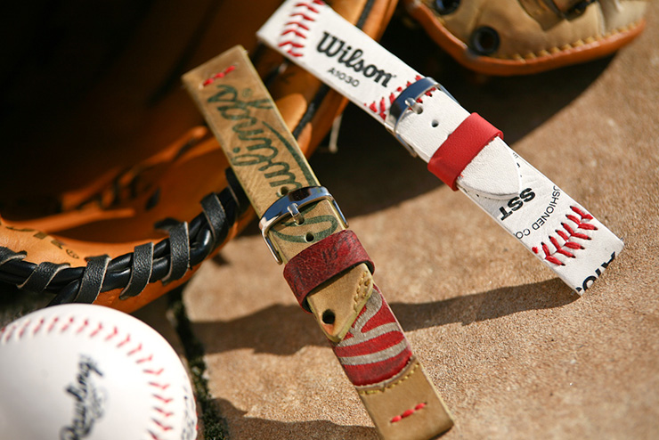 Maverick Custom Straps Baseball Glove Watch Strap