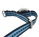 Art Style Blue and Black NATO Strap on Amazon