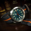 Barton Watch Bands Smoke and Pumpkin NATO Watch Strap on Diver