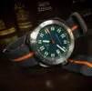 Barton Watch Bands Smoke and Pumpkin NATO Watch Strap on Diver