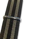 Blueshark Premium Nylon NATO Strap - Black and Gold