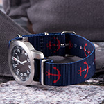 Clockwork Synergy Premium Nato Anchor Blue