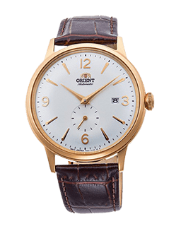 Orient Bambino Small Seconds - White Dial - Gold Case Model Number RN-AP0004S10A