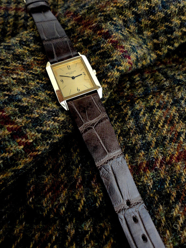 Tourbe Brune Alligator Watch strap for Vintage Patek Philippe