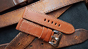 Two One Four Straps - Brown Leather Watch strap