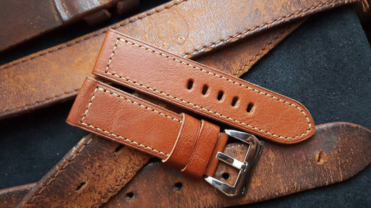 wo One Four Straps - Cognac Brown Watch Strap