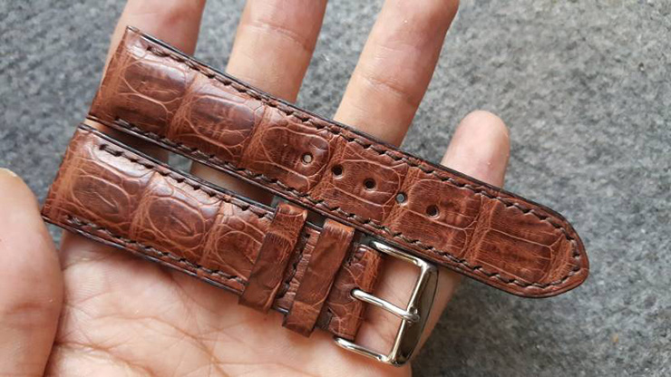 Two One Four Straps – Brown Caiman Watch Strap