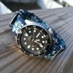 Blue graphic NATO on Seiko Diver