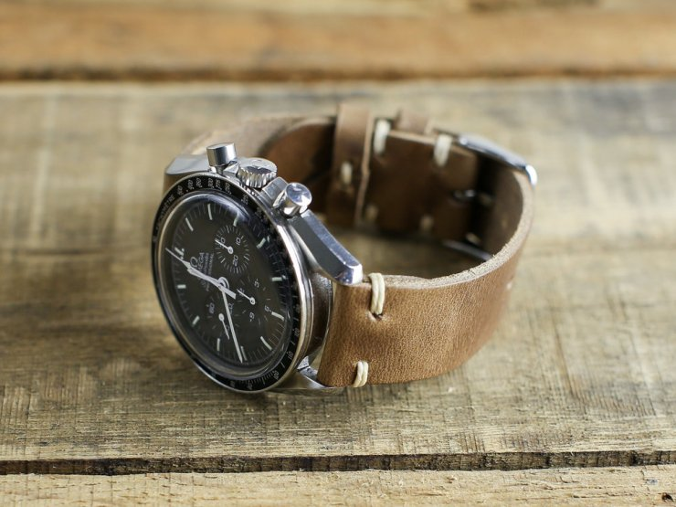 Choice Cuts Industries Brown Horween Leather Watch Band