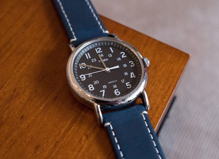 Barton Band Leather Quick Release Watch Strap on Timex