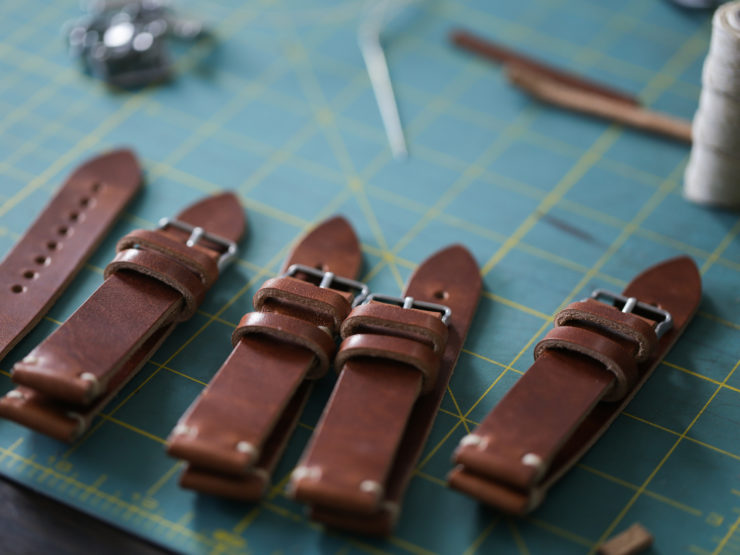 Choice cuts watch straps in production for a wholesale order