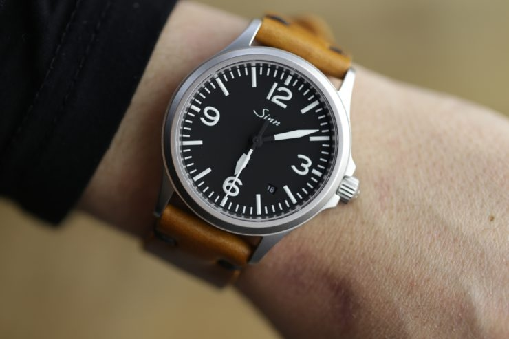 Sinn 656 with a Horween strap in Butterscotch Cavalier by Choice cuts Industries