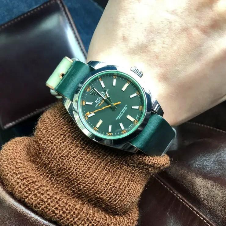 Daluca Straps Rolex Milgauss - image courtesy of @owenau89