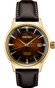Seiko Presage Cocktail Time - Cloudy Black Dial - Gold Case -SRPD36