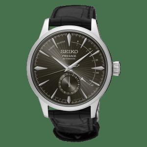 Seiko Presage Cocktail Time - Espresso Martini - Silver Case - Black Dial - Power Reserve - SSA345J1
